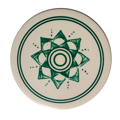 Indiavibes Carrom Board Striker Ivory Color With Design