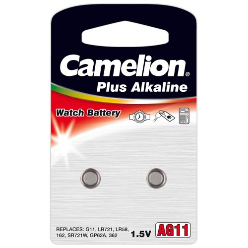 Camelion AG11 LR58 LR721 Knopfzelle 1,5V Batterie (BP2)