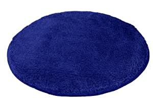 Kleine Wolke 5405736307 Tapis de bain Relax 60 cm Rond Bleu Atlantique