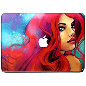 Wonderskins WSAir_11inch_0088 Macbook Pro 11inch Vinyl Skin with Apple Logo and Round Edges Cutout