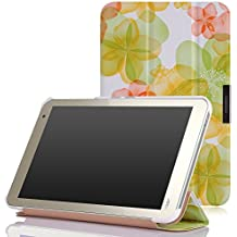 MoKo TOSHIBA Encore 2 WT8-B32CN / B64CN Case - Ultra Slim Lightweight Smart-shell Stand Cover Case for TOSHIBA Encore WT8-B32CN / B64CN 8 Inch Windows 8.1 Tablet, Floral GREEN
