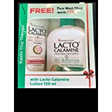 [Sponsored]Lacto Calamine Daily Face Care Lotion Oil Balance For Combination To Normal Skin 120ml With Face Wash 50ml Free
