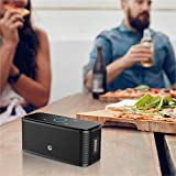 DOSS SoundBox- Touch Kabellose Portabler Bluetooth Lautsprecher mit unglaublicher 12-Stunden Spielzeit & Sensitive-Touch Wireless 12W Speakers mit TF Karte Funktion und Reinem Bass - 5