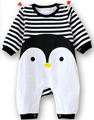 Baby Jungen Schlafstrampler Schlafanzug für Mädchen, Einteiler langarm Schlafoverall Baby-Nachtwäsche, 3-6 Monate