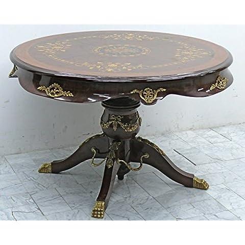 De estilo barroco y de colour negro y de la mesa de 1,1 x 0,8 M MoTa0477Son, bandeja de cristal, herrajes de níquel, de borde en la pared de la placa de plata de la hoja
