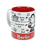 Sheepworld 61037 TasseOhne Berlin ist alles doof, Steingut, 30 cl