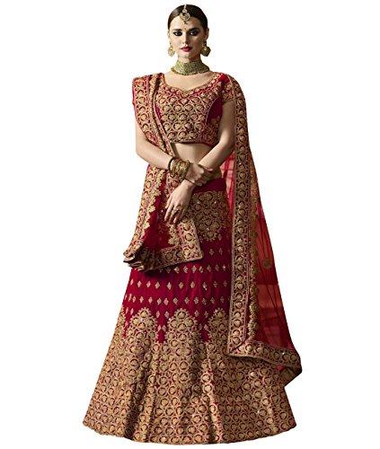 Indian Ethnicwear Bollywood Pakistani Wedding Reddish Pink A-line Coloured Un-stitched