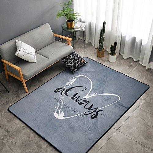 Young baby Style Nordique Salon Art Tapis Gris Lettre Tapis Chambre Salon Tapis Creeping Mat 150 * 190 cm