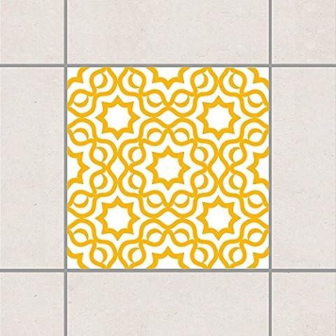 Adesivo per piastrelle - islamico Bianco Melone Giallo 10 x 10 cm, Setgröße:10teilig