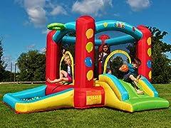 Idea Regalo - Castello Gonfiabile BeBop Balloon con Vasca Palline per Bambini