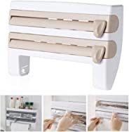 Kitchen Roll Dispenser for Foil Cling Film and Paper Towel, lesgos Triple Paper Dispenser Wall Mounted Cling Film Tin Foil To