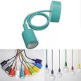 KINGSO E27 Farbe Silikon Edison Pendelleuchte Hängeleuchte Lampenaufhängung DIY Lampe Lampenhalter Lampensockel für Zuhause in Küche Esszimmer Wohnzimmer Kinderzimmer Bar Restaurant Cyan