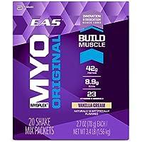 EAS Myoplex Original Protein Shake Mix Packets, Vanilla Cream, 113.4 ounce, 42 servings