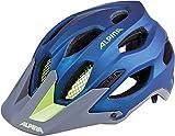 ALPINA Erwachsene Carapax Fahrradhelm, darkblue-neon, 57-62 cm