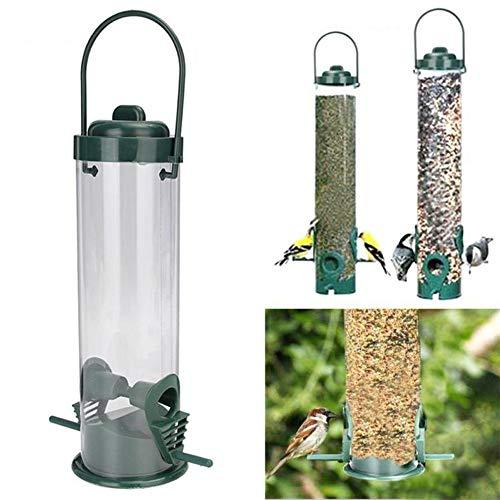 WFZ17 Vogelfutterstation für Wildvögel, hängend, für den Außenbereich, für Vögel, Samen, Futterstation für den Garten, Snacks, Eimer - Samen Für Die Vögel