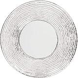 Kare Design Spiegel Pluto Ø110cm, großer Wandspiegel silber, Schminkspiegel mit Silberrahmen, ausgefallener Flurspiegel, Silbergrau Aluminium vernickelt (H/B/T)110x110x8cm