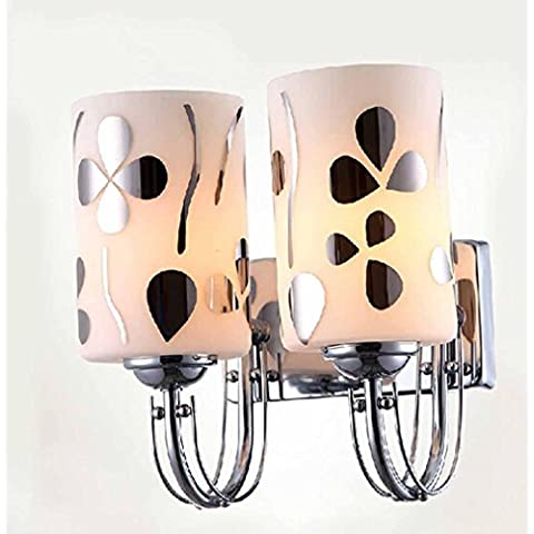 NHD-Modern bedroom bedside lamps, home glass wall lamp, single-head double end of the aisle wall lights