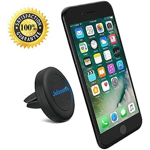 Porta telefono, senza CA02 JEBSENS Supporto universale per bocchetta di ventilazione auto con potente magnete supporto, girevole a 360°, con Base robusta e una pellicola trasparente per proteggere il telefono, soddisfatti o rimborsati