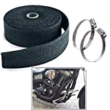 #4: Trustway Bike Silencer High Quality Exhaust Wrap and Best Heat Defense With adjustable 2 Clamp / Clip Black for Royal Enfield Classic 350