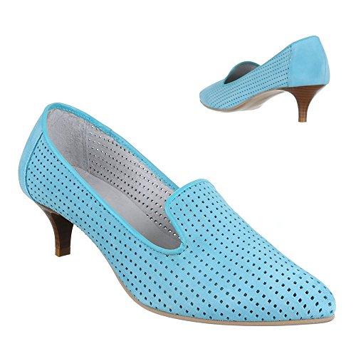 Ital-Design - Scarpe con Tacco Donna Blu (blu chiaro)
