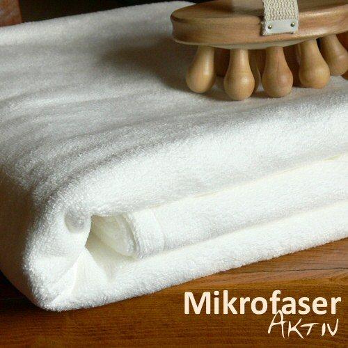 Aktiv Saunatuch 190 Mikrofaser / Wohlfühl-Microfleece, 90x190 cm [Weiß]
