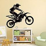 OHQ Pegatina De Pared Etiqueta 53cm * 60cm Moto De Motocross Pegatinas De Pared Sala De Arte...