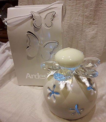 Bomboniere comunione matrimonio portacandela luminoso swarovski scatola farfalle
