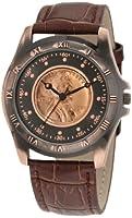 August Steiner redonda de los hombres de trigo Penny Cobre antiguo coleccionistas Coin reloj de August Steiner