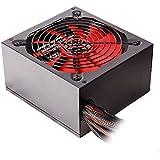 Mars Gaming MP1000 - Fuente de alimentación gaming (1000 W, ATX, ventilador 12 cm, PFC activo, 12 V, sistema anti-vibración), color rojo y negro