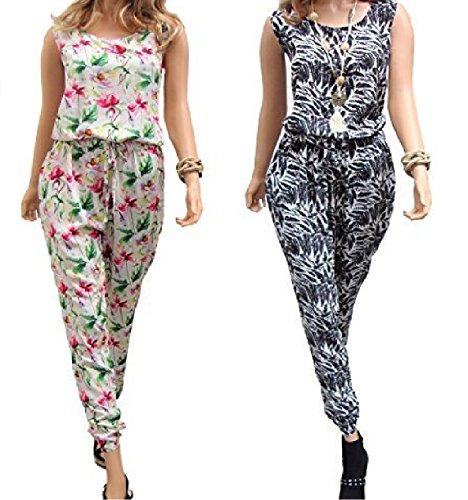 Holidaysuitcase damen Damen Doppelpack sommer urlaub overall größe 10-26 UK Mehrfarbig