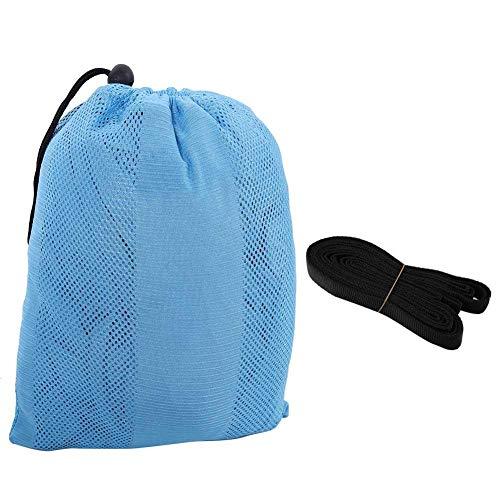 Asixx Camping-Hängematte, 300 kg Outdoor-Camping tragbare leichte Double People Nylon-Hängematte mit 2 x Gürtel für Backpacking, Camping, Reisen, Strand, Hof und Garten(Blau) - Gürtel Schaukel Baby