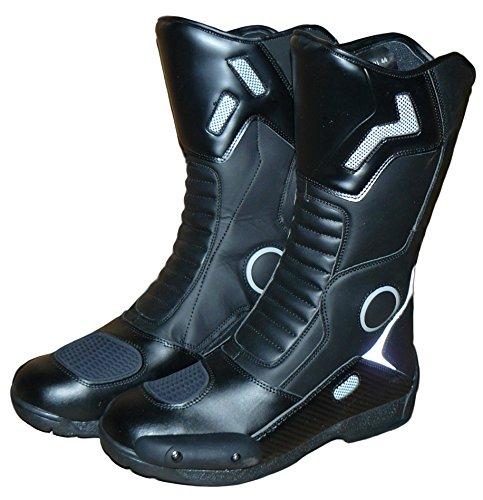 Protectwear Botas de Moto, Negro, Talla 45
