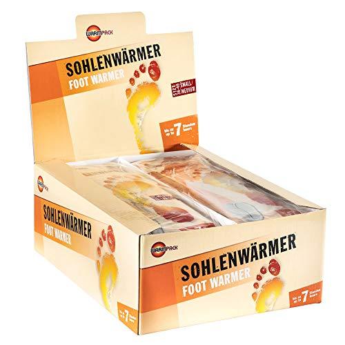 30 Paar Warmpack Sohlenwärmer S | angenehme Wärmepads | kuschlig weiches Wärmekissen | 7 Stunden wohltuende Wärme | 30er Pack | Größe S