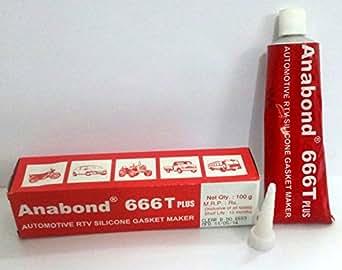ANABOND 666T PLUS - 100 GMS - AUTOMOTIVE RTV SILICONE GASKET MAKER