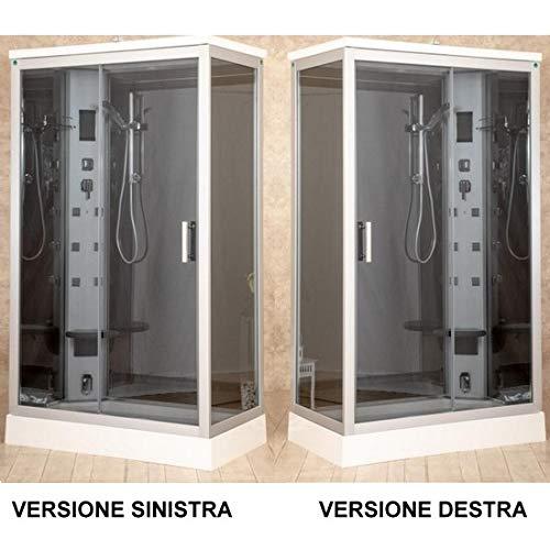 Cabina box idromassaggio 70x120 con piatto doccia multifunzione disponibile anche con sauna I