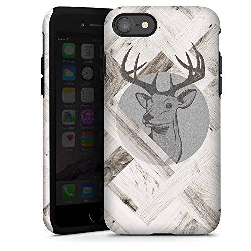 Apple iPhone 6 Plus Silikon Hülle Case Schutzhülle Hirsch Holz Wald Tough Case glänzend