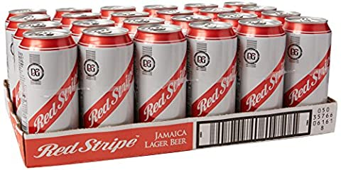 Red Stripe Lager can Beer, 440 ml, Case of 24