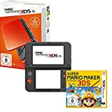 New Nintendo 3DS XL Orange Black +  Super Mario Maker for Nintendo 3DS