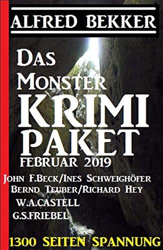 Das Monster Krimi Paket Februar 2019 - 1300 Seiten Spannung