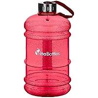 VitaBottles 2.2 l, 2200ml XXL Fitness-Trinkflasche BPA-frei, DEHP-frei