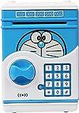 #6: Asian Hobby Crafts Battery Operated Mini ATM Safe Kids Piggy Saving ATM Deposit for Kids Cartoon: Doraemon