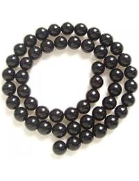 Negro Redondo Onyx Onix Piedra Preciosa Suelta Cuentas Abalorios Cadena 8mm