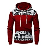 Luckycat Weihnachtspullover Herren Basic Kapuzenpullover Sweatjacke Pullover Hoodie Sweatshirt Mode 2018