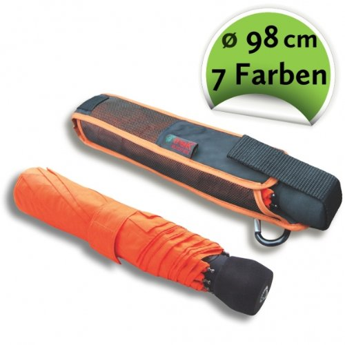 Euroschirm light trek automatic der Sonnen-, Wander-, Regen- & Trekkingschirm Farbe orange