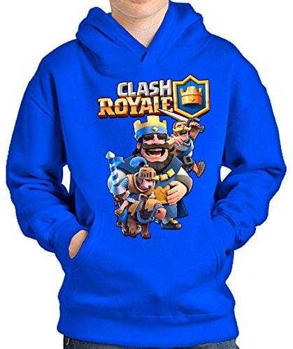 SWEATSHIRT Clash Royale Rey (9-10 YEARS, Blue)