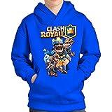 SUDADERA Clash Royale Rey (XL, Azul)