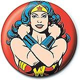 Distintivo del Pulsante di Posa del Classico della Donna di meraviglia di DC Comics Genuino