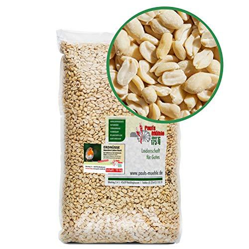 Paul´s Mühle Erdnüsse Weiss, Erdnusskerne blanchiert ohne Haut, 10 kg