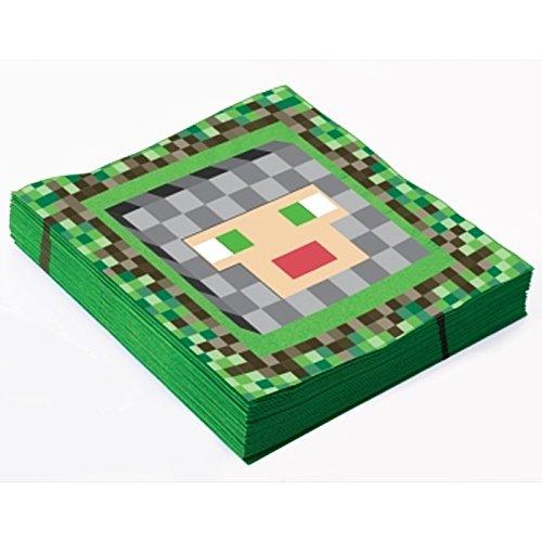 Forum Novelties x74256 Serviette, mittelalterlich, 33 cm, mehrfarbig (Geburtstag Minecraft)