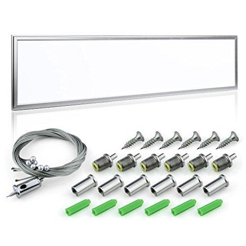 Anten® TUV 120x30cm 40W 6000K Kaltweiß Ultraslim Dünn LED Panel Deckenleuchte mit Installation Zubehör,SMD 2835 3800LM
